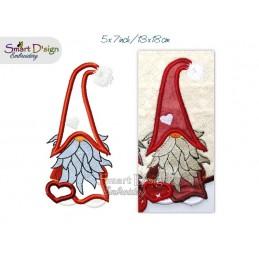 Applikation Skandinavischer Gnome Weihnachtszwerg 13x18 cm