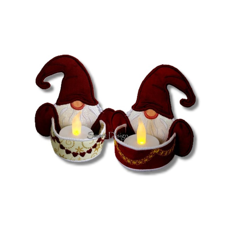 Gnome Tea Lights Set 5x6 inch