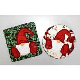 Set 2 x Coaster Gnome 5x5 inch