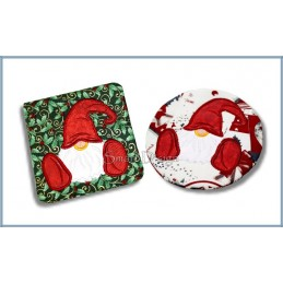Set 2 x Coaster Gnome 4.75x4.75 inch
