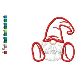 Applique Gnome Dwarf 4.75x4.75 inch