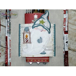 ITH Cutlery Holder Christmas Gnomes 5x7 inch