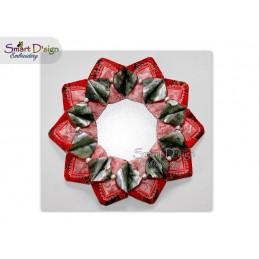 ITH Poinsettia Christmas Wreath 4x4 inch