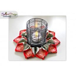 ITH Poinsettia Christmas Wreath 4x4 and 5x7 inch