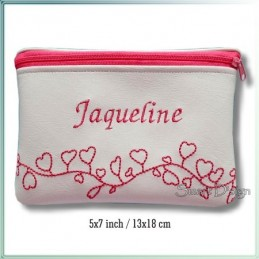 Hearts ITH Zipper Bag 5x7 inch