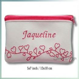 Hearts ITH Zipper Bag 5x7 inch