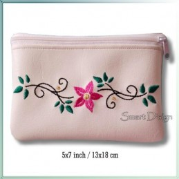 Flower ITH Zipper Bag 5x7 inch