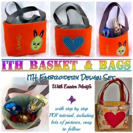 Basket & Bags 12 Easter Motifs 8x11.2 inch ITH