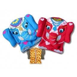 Elephant Zipper Bag 5x7 inch ITH