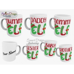 ELF FAMILY 11oz Ceramic Mug - add your name