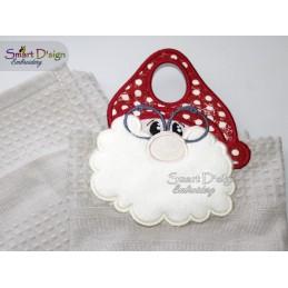 ITH TOWEL TOPPER Santa Claus 5x7 inch