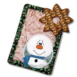 2 x ITH MugRug Snowman Frosty 5x7 inch