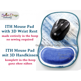 ITH Mouse Pad with 3D Hand Rest Cushion Vers. 2