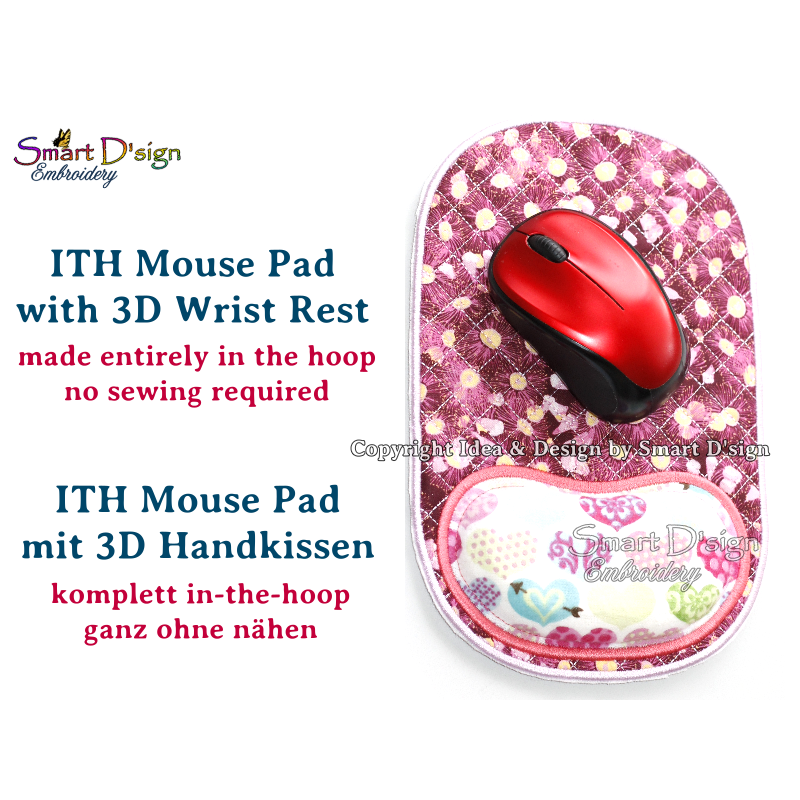 ITH Mousepad mit 3D Kissen Handauflage Vers. 3