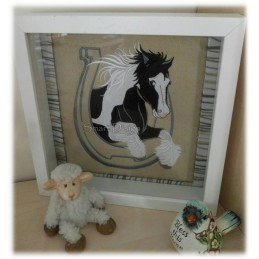 Jumping Unicorn Gypsy Horse Tinker 5x7 inch