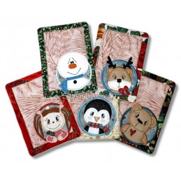 ITH Megaset MugRugs Winter Circle 5x7 inch