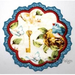 ITH Spitzen-Untersetzer Blume 3 Größen