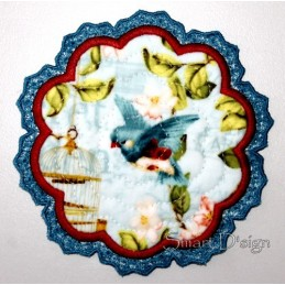 ITH Flower Quilt Laced Coaster 3 sizes