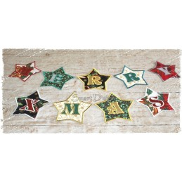 Christmas Star Alphabet 5x5 inch