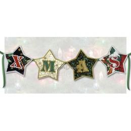 Christmas Star Alphabet 5x5 inch