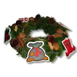 6 Weihnachts-Applikationen 10x10 cm