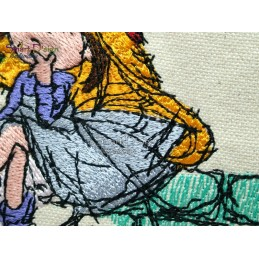 BE MY VALENTINE Doodle Motiv 13x18 cm