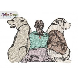 ADOPTED - DOG FRIENDS Doodle & Light Fill Motif