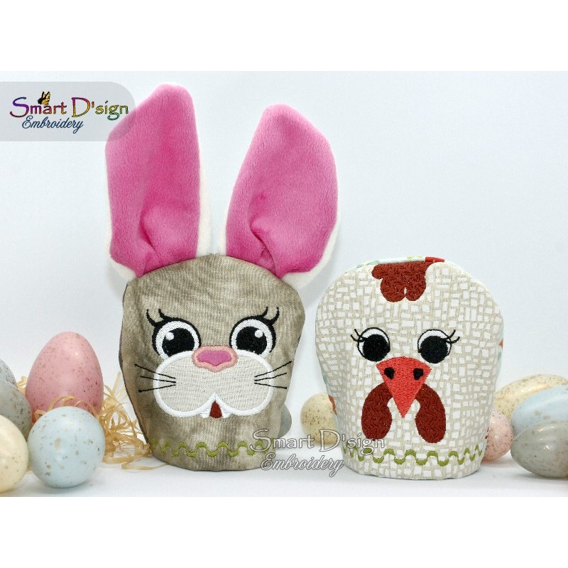 ITH EGG COSY Easter Decoration BUNNY and HEN