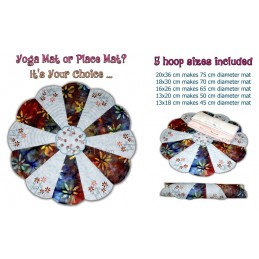 Yoga Mat 5 Sizes Semi ITH E-Book