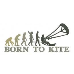 2x Born To Kite 13x18 cm