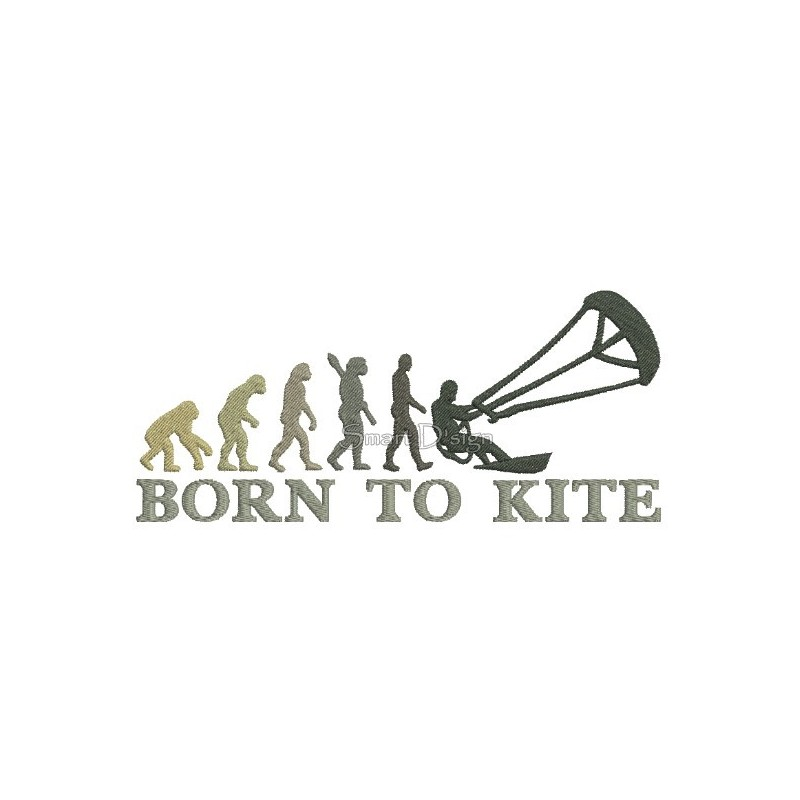 2x Born To Kite 5x7 inch