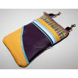 ITH 2x Mobile Bags with Zipper Applique 5.5x7.9 inch