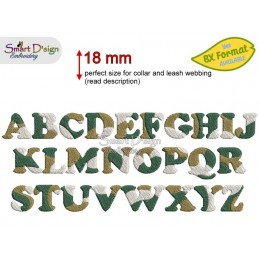 CAMOUFLAGE ALPHABET 1.8 cm - BX Format available