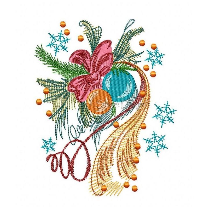 Weihnachtszeit Baumkugeln 14.5x18.5 cm