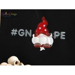 #GNOPE 5x7 inch Applique