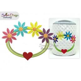 MUTTERTAG's Herz mit Blumen
