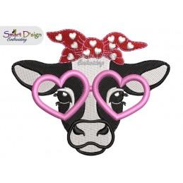 Heart Cow 4x4 inch