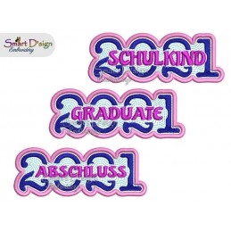 SCHULKIND / ABSCHLUSS / GRADUATE 2021 Applique Patch