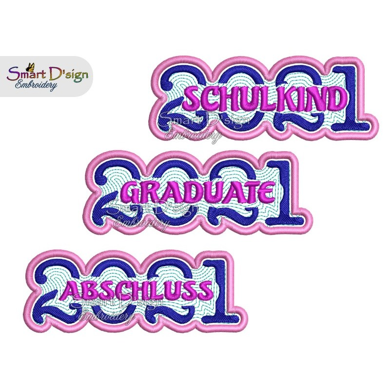 SCHULKIND / ABSCHLUSS / GRADUATE 2021 Applique Patch