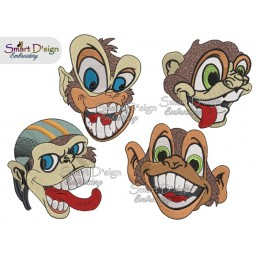 Spassige Affen 2 Größen 4 Versionen