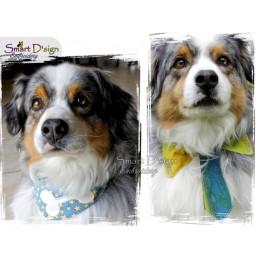 PRIVATE LICENCE Blank Dog Collar Bibs Set