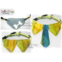LIMITED LICENCE Blank Dog Collar Bibs Set