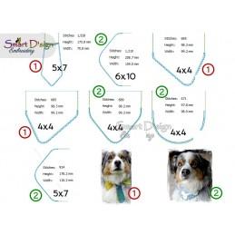 UNLIMITED LICENCE Blank Dog Collar Bibs Set
