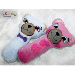 ITH BEAR BABY RATTLE 5x7 inch