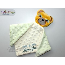 ITH BEAR for BABY SNUGGLE BLANKET 5x7 inch
