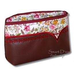 ITH Cosmetic Bag w. Inside Pockets V-Line