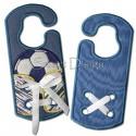 Shoelace Trainer Soccer ITH Door Hanger 5x7 inch
