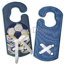 Schleifentrainer Fussball Türschild 5x7 inch13x18 cm