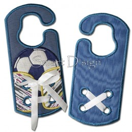 Shoelace Trainer Soccer ITH Door Hanger 5x7 inch