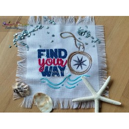 FIND YOUR WAY Compass 5x7 inch